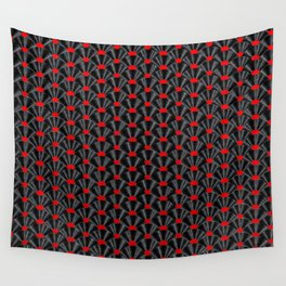 Covered in Vinyl / Vinyl records arranged in scale pattern Wall Tapestry