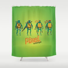 Ninja Turtles - Pixel Nostalgia Shower Curtain