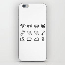 Communication Through The Internet iPhone Skin