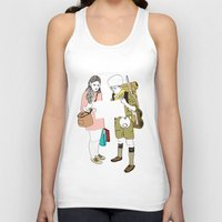 moonrise kingdom Tank Tops featuring moonrise kingdom by joshuahillustration