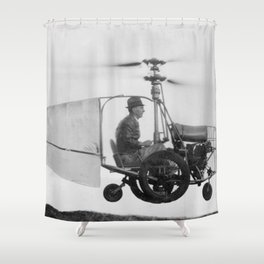 Gyrocopter Shower Curtain