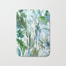 marelle: watercolor floral Bath Mat