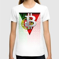portugal T-shirts featuring bitcoin Portugal by seb mcnulty