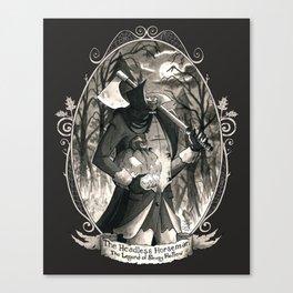 Portrait: Headless Horseman (Sleepy Hollow) Canvas Print