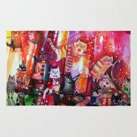 circus Area & Throw Rugs featuring Circus  by oxana zaika