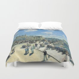 Pont Neuf Paris Painting by Auguste Renoir Duvet Cover