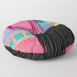 maybe I'm just like my mother - abstract painting Floor Pillow