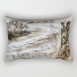 Winter road Rectangular Pillow