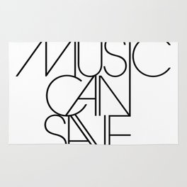 Only Music Can Save Us Rug