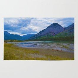 Morrow Peak & the Athabasca River in Jasper National Park, Canada Rug