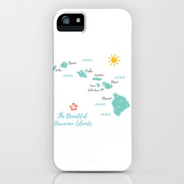 The Hawaiian Islands iPhone Case