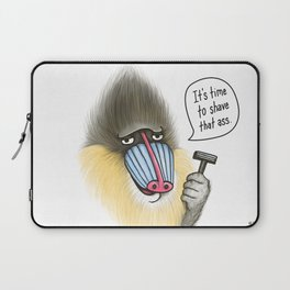 Shave that Ass Laptop Sleeve