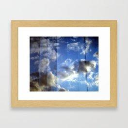 Cloud Curtain Framed Art Print