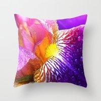 iris Throw Pillows featuring Iris by Robin Curtiss