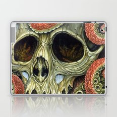 orange tentacles skull Laptop & iPad Skin