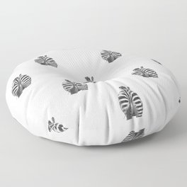 Black and White Zebra Tail Floor Pillow