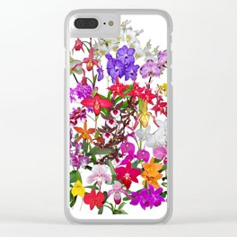 A celebration of orchids Clear iPhone Case