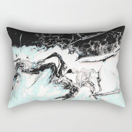 mint black and white marble Rectangular Pillow