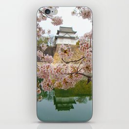 Tokyo Imperial Palace + Cherry Blossoms iPhone Skin