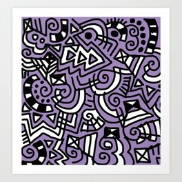 The Purple Doodle Art Print