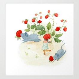 Strawberry Thieves Art Print