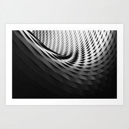 architecture black white Art Print