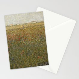 La Luzerne, Saint-Denis by Georges Seurat, 1885 Stationery Cards