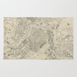 Vintage Map of Vienna Austria (1877) Rug
