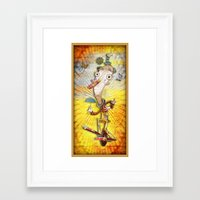 clown Framed Art Prints featuring Clown by José Luis Guerrero