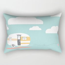 Lets See Really Cool Stuff Together Airstream Art  Rectangular Pillow