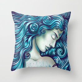 Calypso Sleeps Throw Pillow