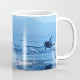 Wait!!! Spotted dolphins jumping off Tenerife, Canary Islands. Coffee Mug