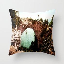 Secret Cove Vintage Seascape Throw Pillow