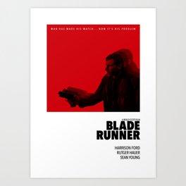 Bladerunner Tribute Poster Art Print