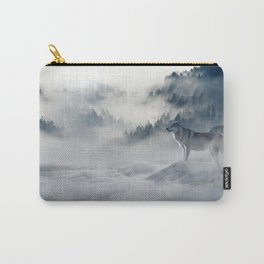 Photo of a wolf in a winter scene Carry-All Pouch