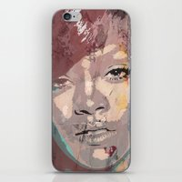 rihanna iPhone & iPod Skins featuring Rihanna by Bit of Art
