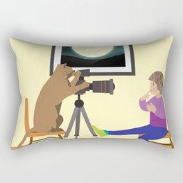 Girl behind the lens Rectangular Pillow