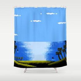 FARAWAY BEACH Shower Curtain