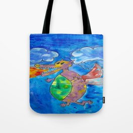Silly Dragon Tote Bag