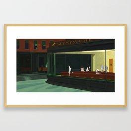 An Homage to Edward Hopper's Nighthawks Framed Art Print