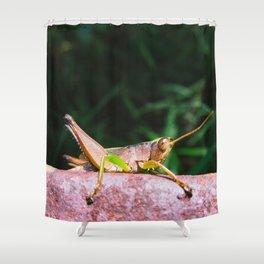 hoppy green Shower Curtain