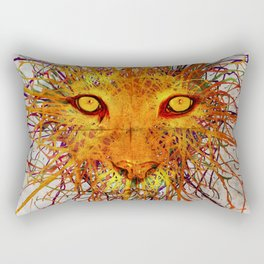 Lion Drip Rectangular Pillow