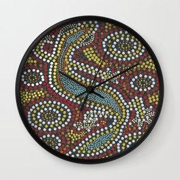 Aboriginal Pattern No. 2 Wall Clock