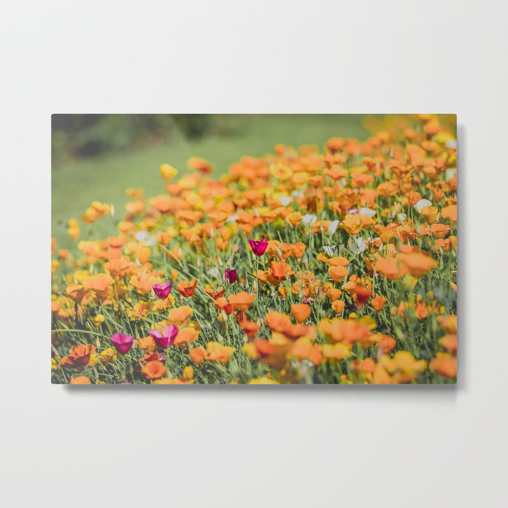 Field Of Orange California Poppies Metal Print by Mattmoberlyart MTP8835300