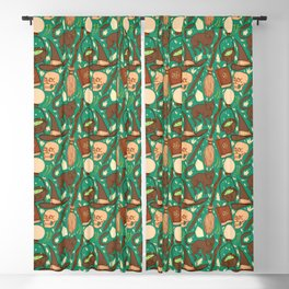 Witch Supplies in Earthy Green Blackout Curtain