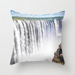 Zimbabwe, Africa - Victoria Falls Throw Pillow