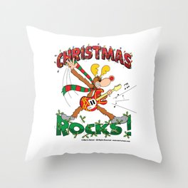 Christmas Rock Throw Pillow