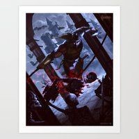 castlevania Art Prints featuring Castlevania by ImmarArt