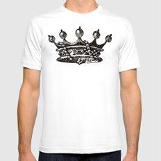 Royal Crown | Black and White White SMALL Mens Fitted Tee