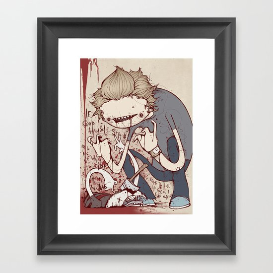 All hell Framed Art Print
